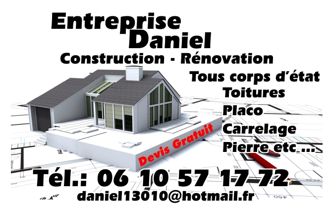 Cartes De Visites Daniel Construction