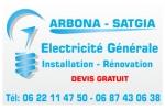 Cartes de visites : Arbona - Satgia electricité