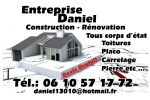 Cartes de visites :Daniel  construction