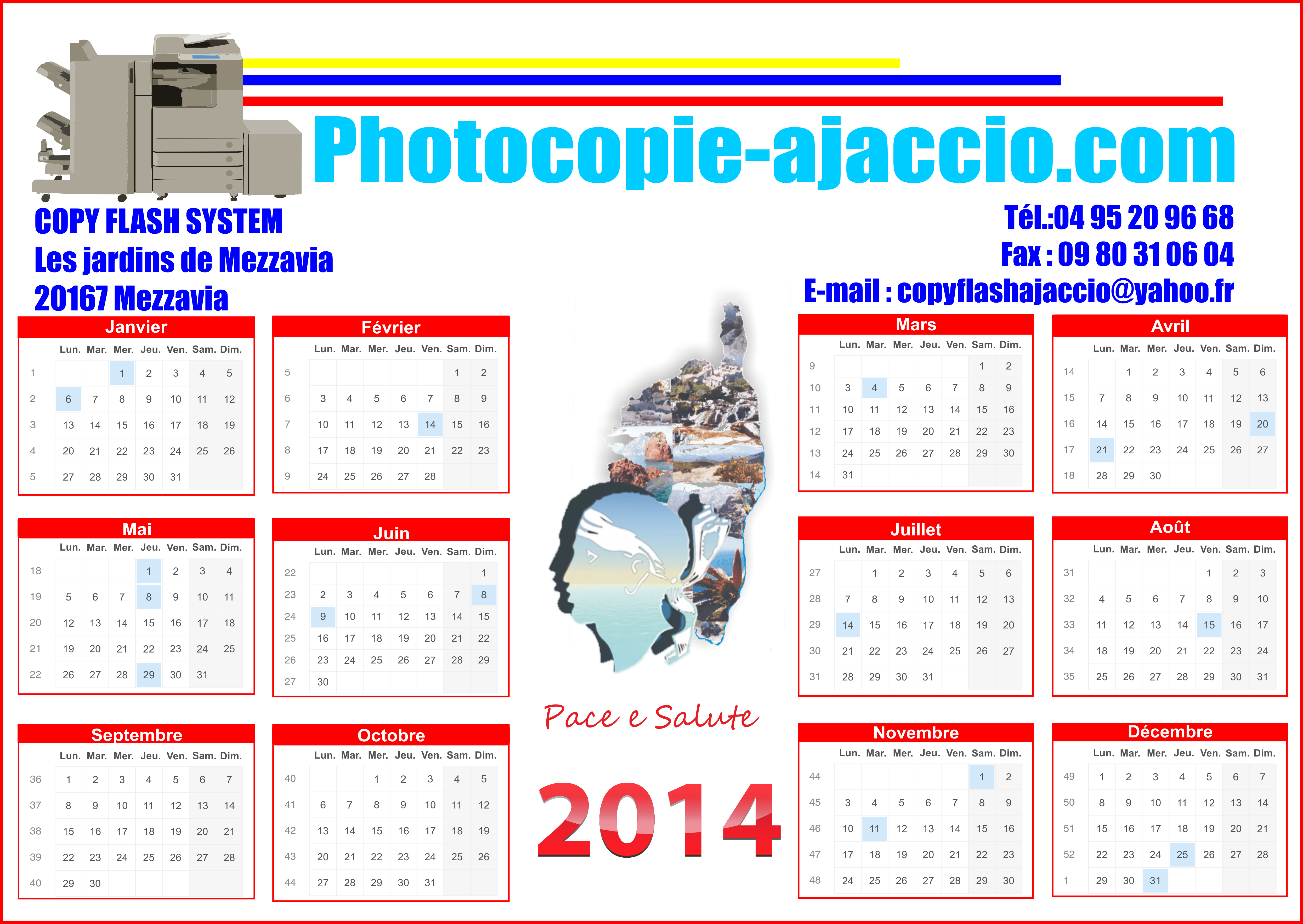 Calendriers 2014